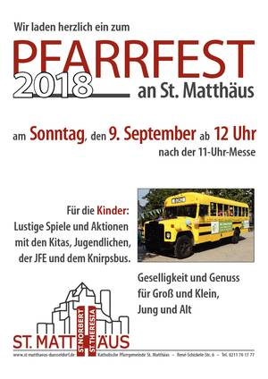 Pfarrfest am 9. September 2018